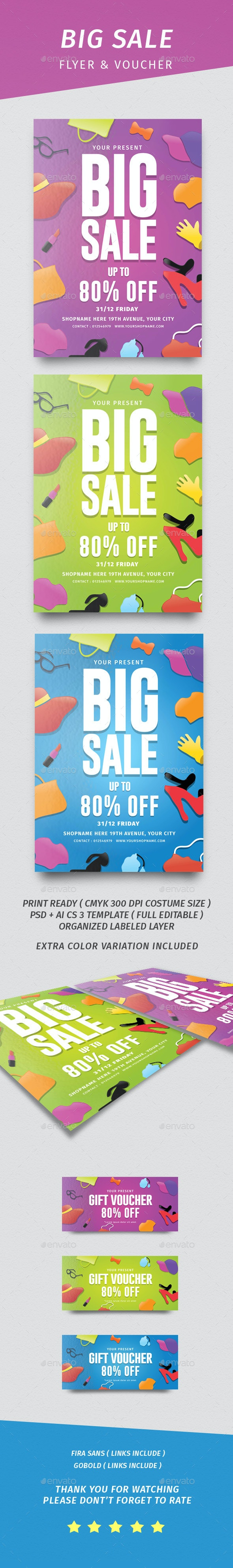 Big Sale Flyer & Voucher - Events Flyers