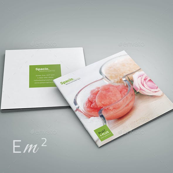 Spacio - Spa Beauty Health Care Square Brochure
