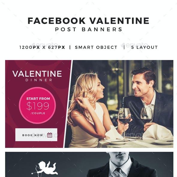 Valentine Facebook Post Banners