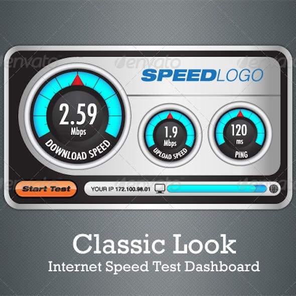 Classic Look Internet Speed Test Dashboard