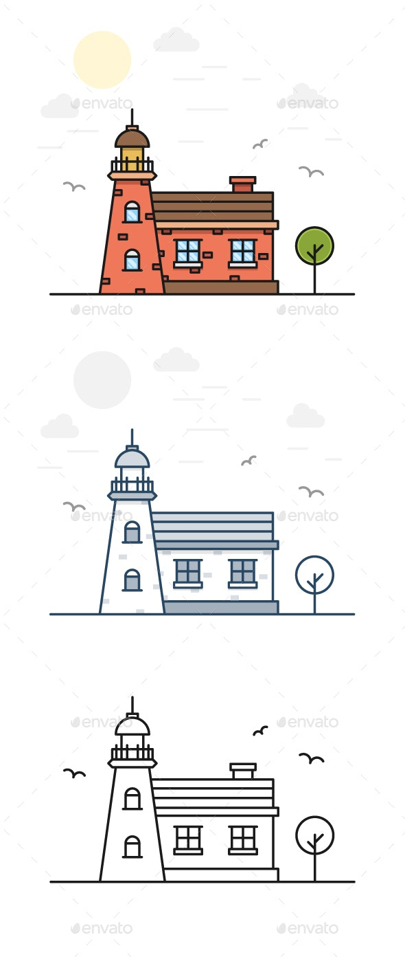 Lighthouse - Buildings Objects