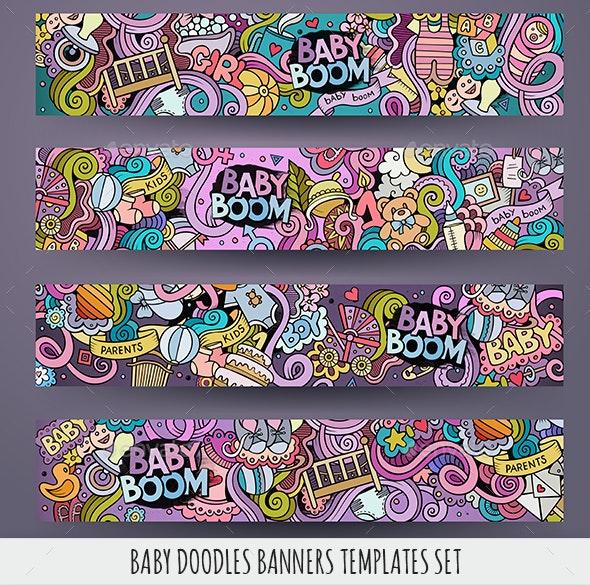 Baby Banners Design Templates - Miscellaneous Conceptual