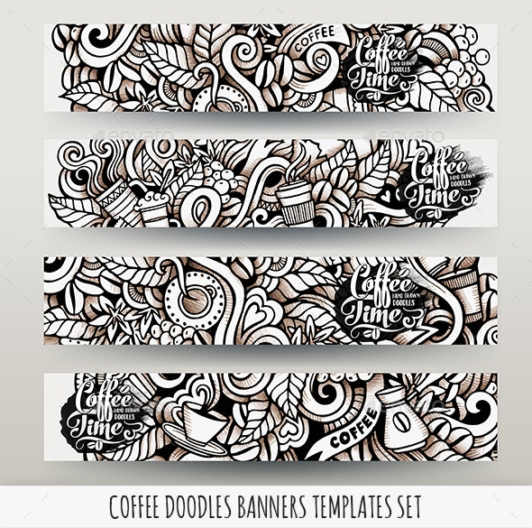 Coffee Banners Design Templates - Food Objects