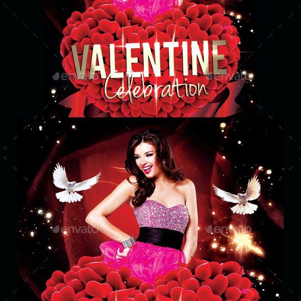 Valentine Day Celebration Party Flyer