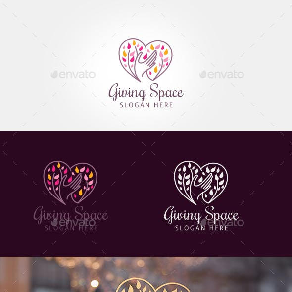 Giving Space Logo Template