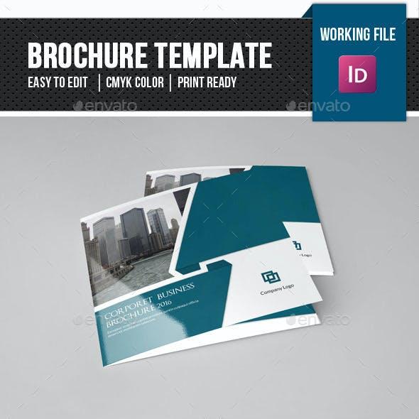 Corporate Square Trifold Brochure-V80