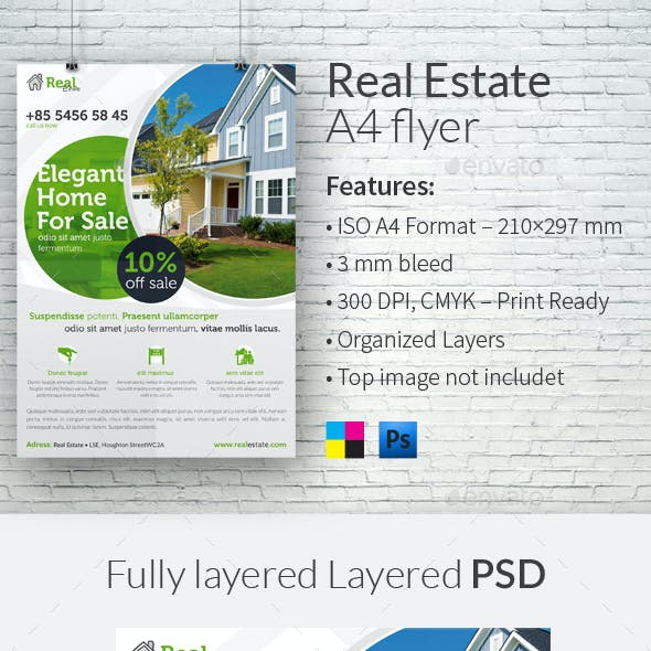 Real Estate A4 Flyer Template