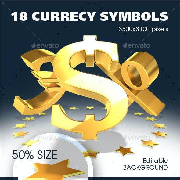 18 Symbols of World Currencies