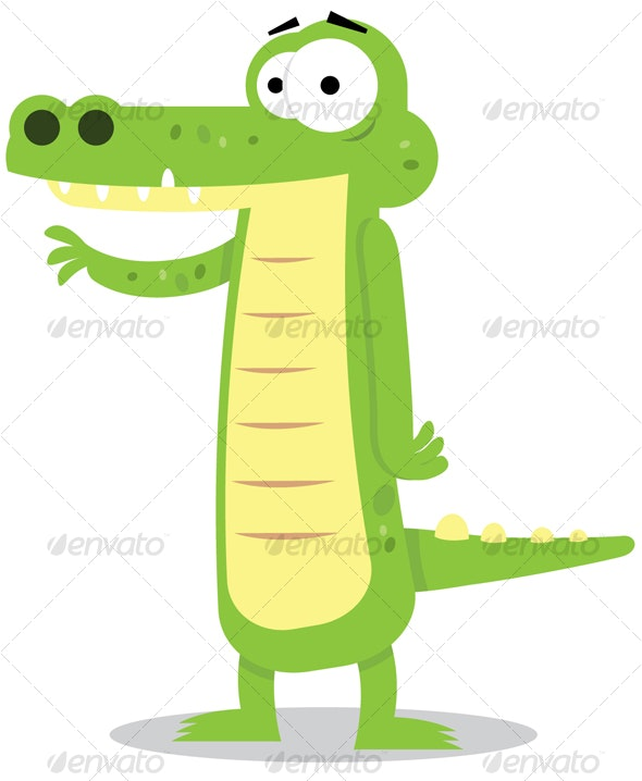 Cute Alligator - Animals Characters