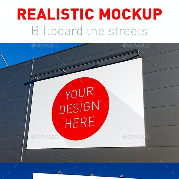5 Realistic Mockup Billboard the Streets