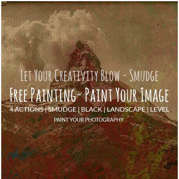 Action Free Paint | Smudge | Vintage | Portrait