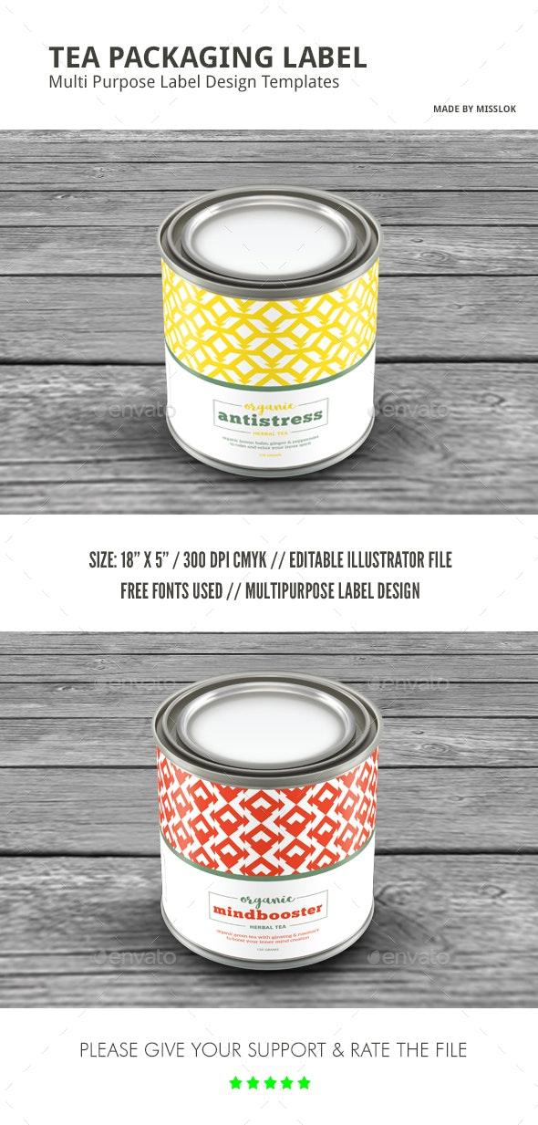 Geometric Pattern Multipurpose Packaging Label - Packaging Print Templates