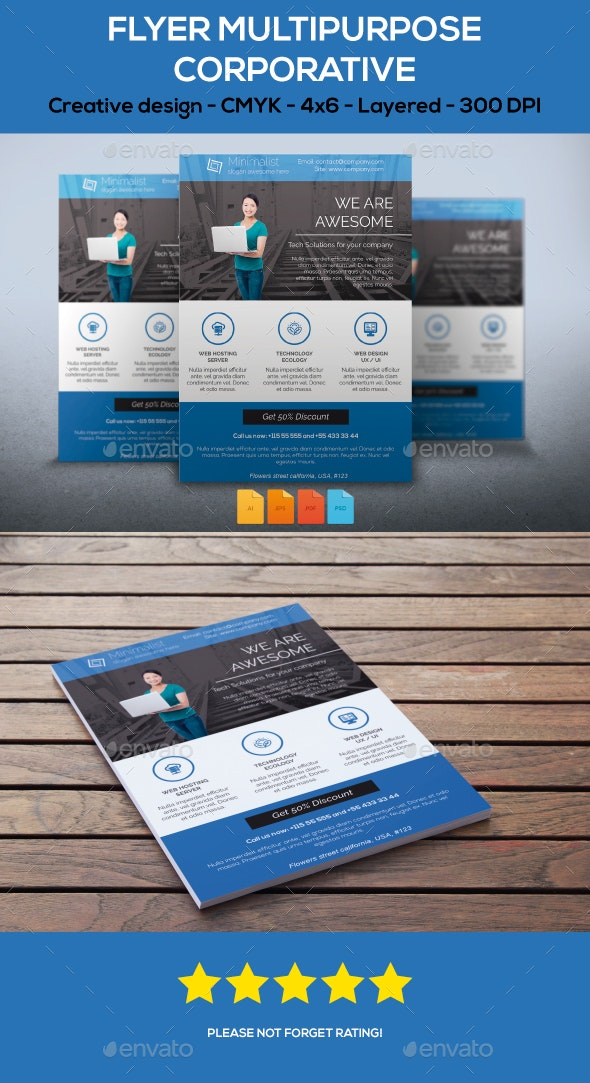 Flyer Multipurpose - Corporate Flyers