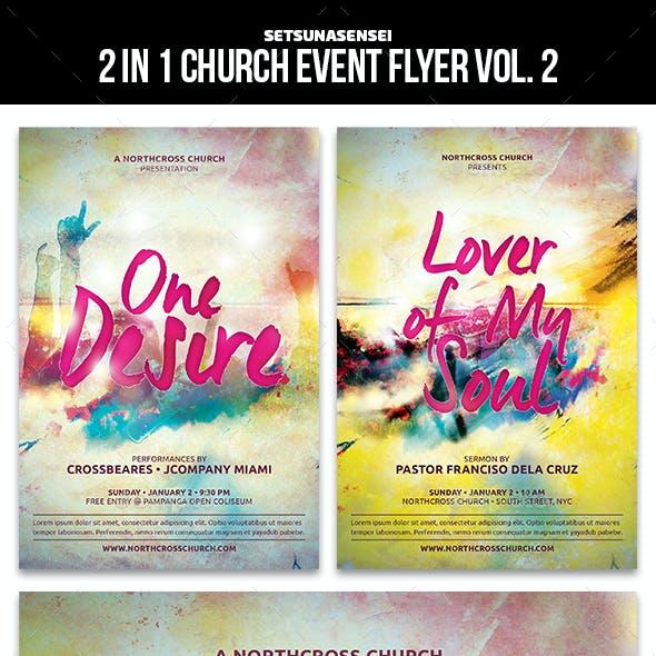 2 in 1 Church Event Flyer Vol. 2