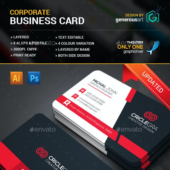 Criclegra Corporate Business Cards