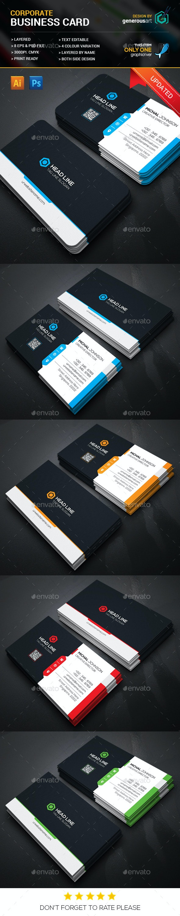 Head Line Business Cards - Corporate Business Cards