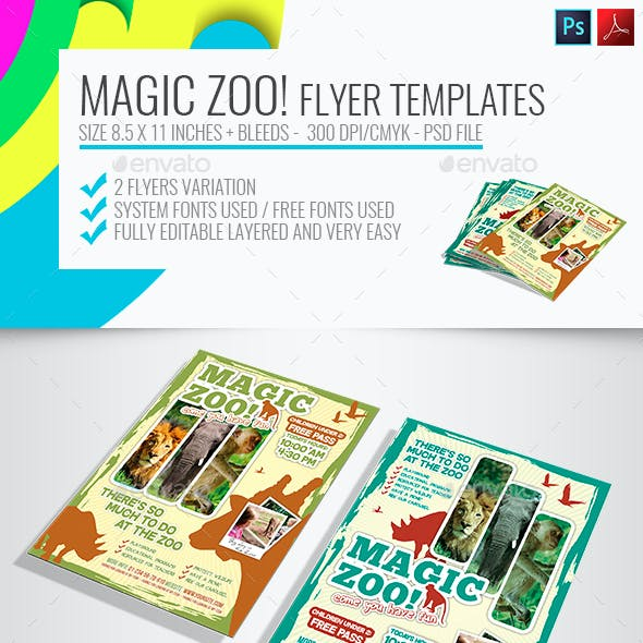 Magic Zoo Flyer Tamplates