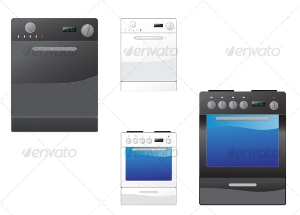 Stove and dishwasher - Technology Conceptual