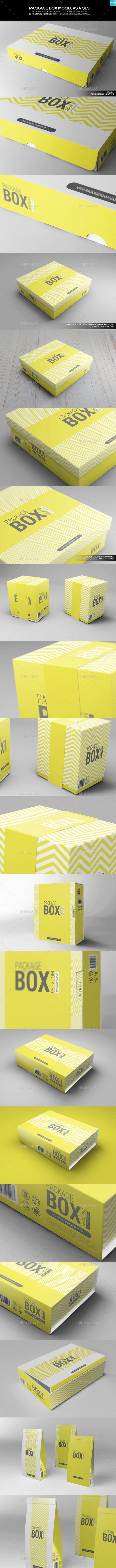 Package Box Mockups Vol3 - Packaging Product Mock-Ups