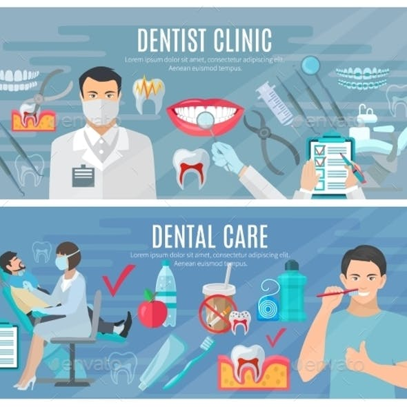 Dentist Banners Set