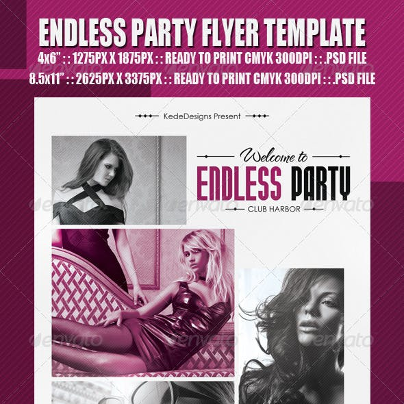 Endless Party Flyer Template