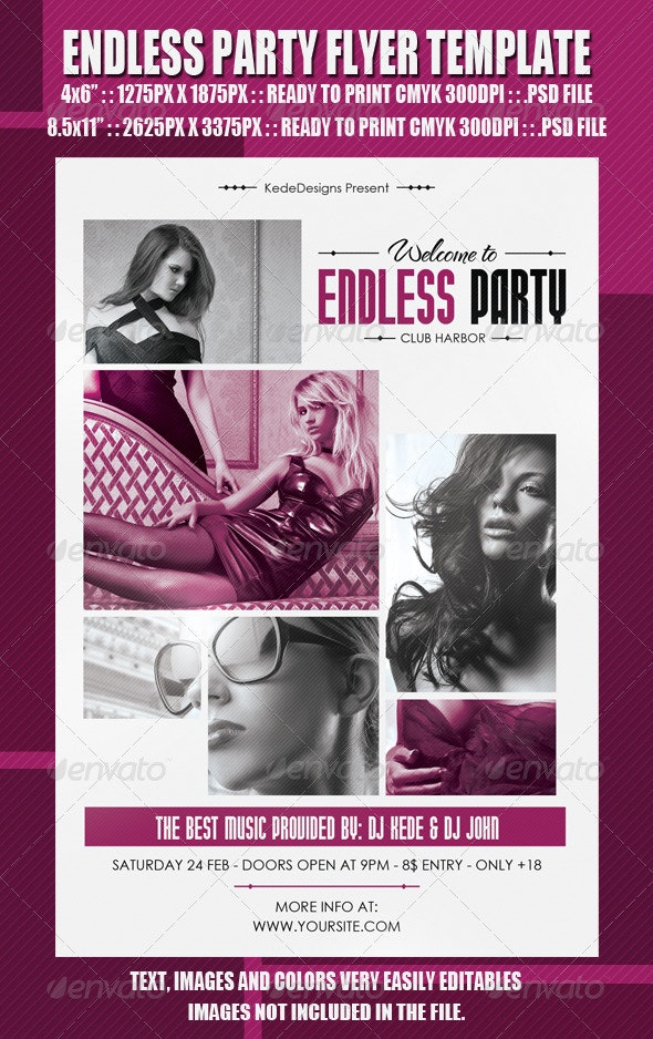 Endless Party Flyer Template - Clubs & Parties Events