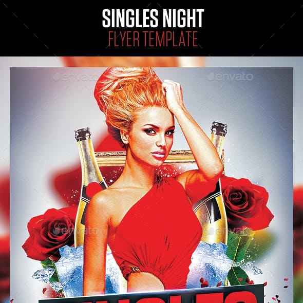 Singles Night Flyer Template