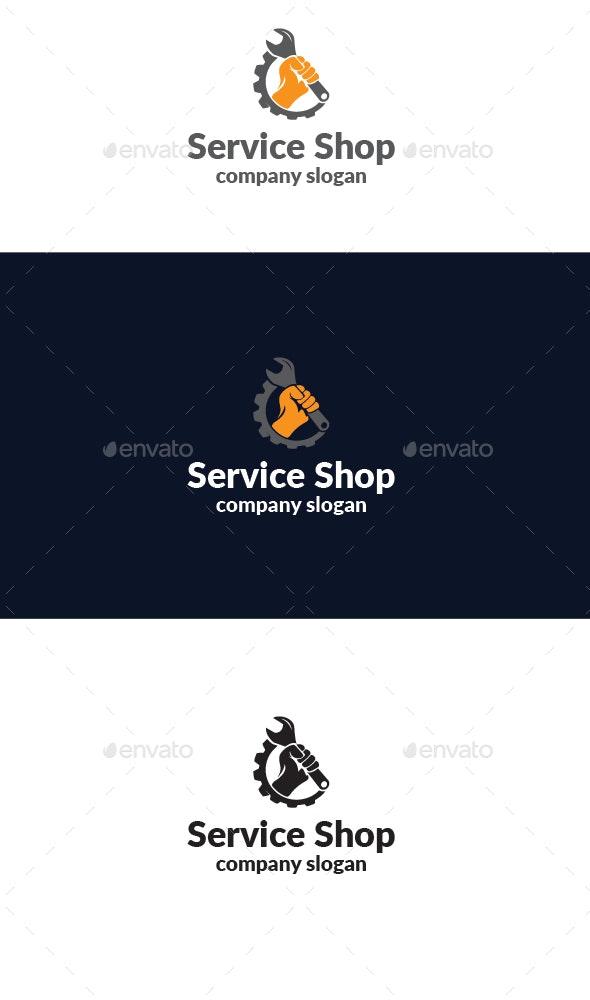 Service Shop Logo - Vector Abstract