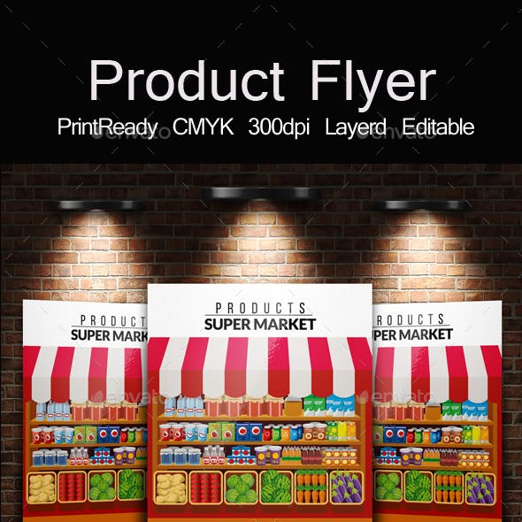Product & Supermarket  Promotion Flyer