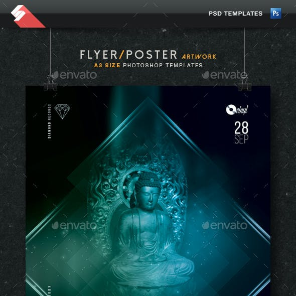 Buddha Bar Chillout Session Flyer Template A3