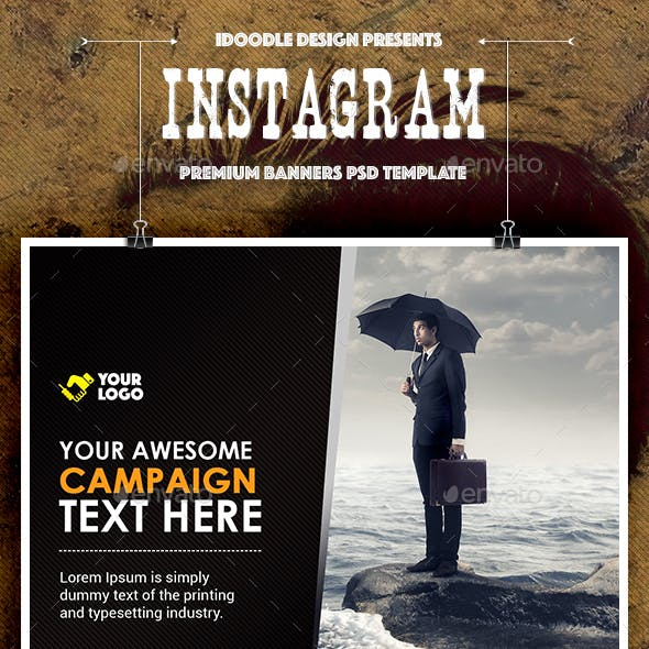 Instagram Multipurpose Banners Ads - 20 PSD