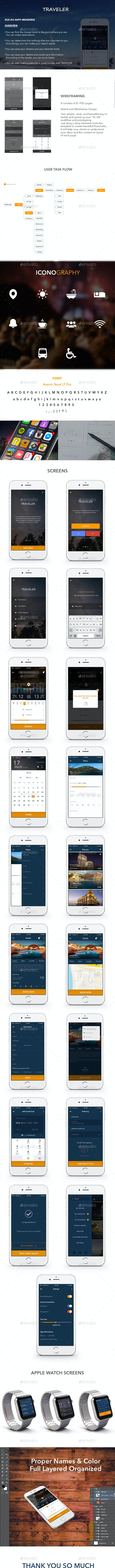 Booking Mobile App Ui - User Interfaces Web Elements