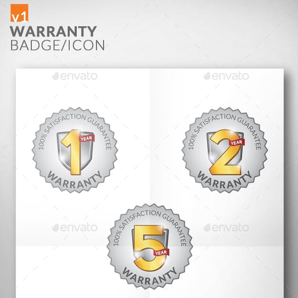 Premium Warranty Badge/Icon