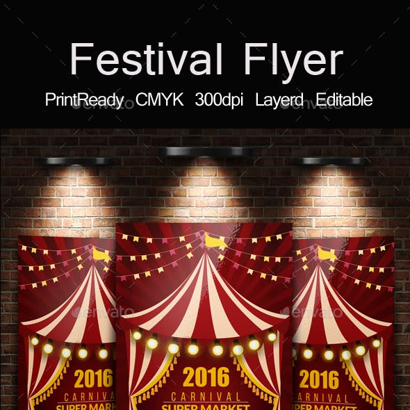 Circus & Carnival Psd Flyer Template