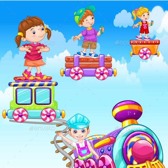Cute Baby Train