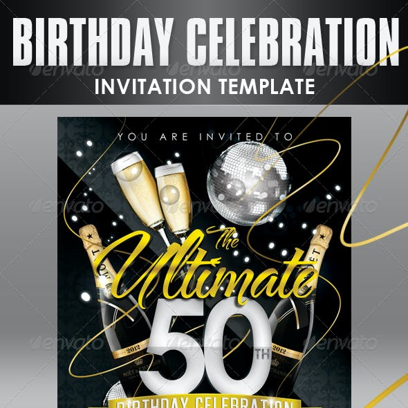 Birthday Invitation Templates - Club Flyer Style