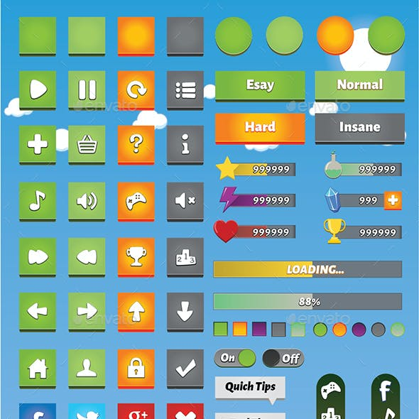 Mobile Game GUI Volume 4