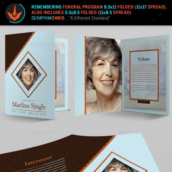 Remembering Funeral Program: Bi-Fold Template