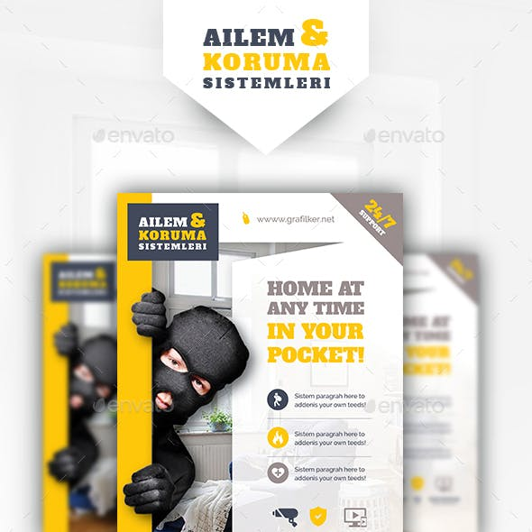 Security System Flyer Templates