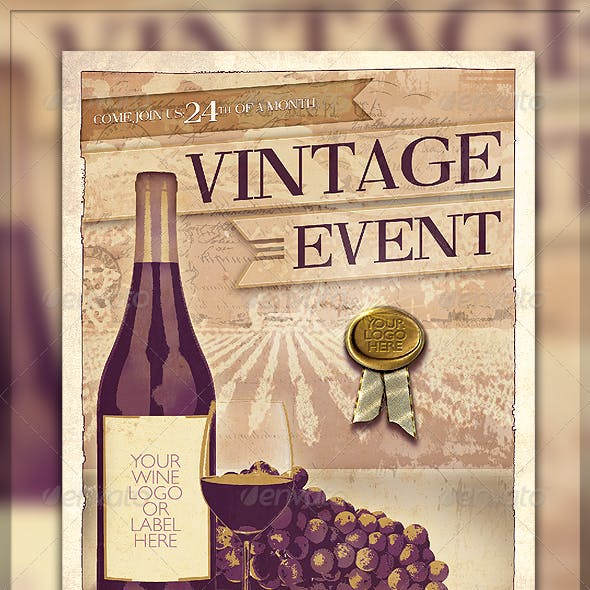 Vintage Wine Event Flyer