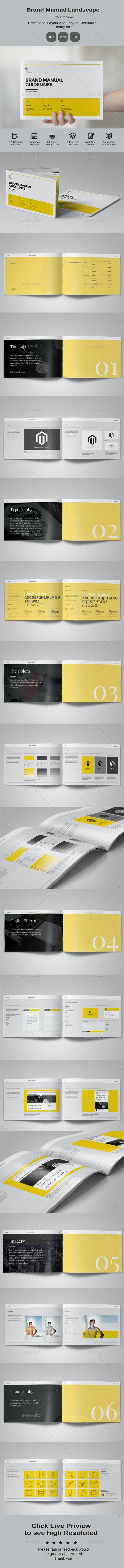 Brand Manual Landscape - Corporate Brochures