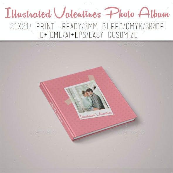 Illustrated Valentines Photo Album