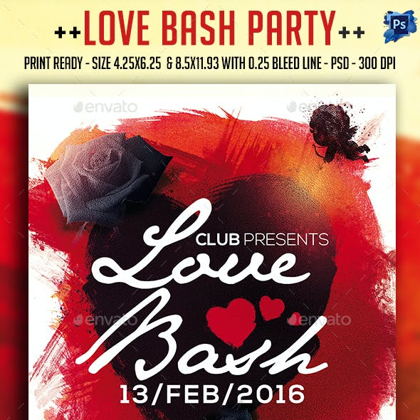 Love Bash Party Flyer