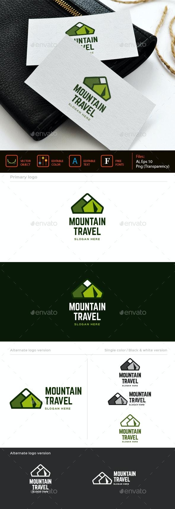 Mountain Travel Logo Template - Nature Logo Templates