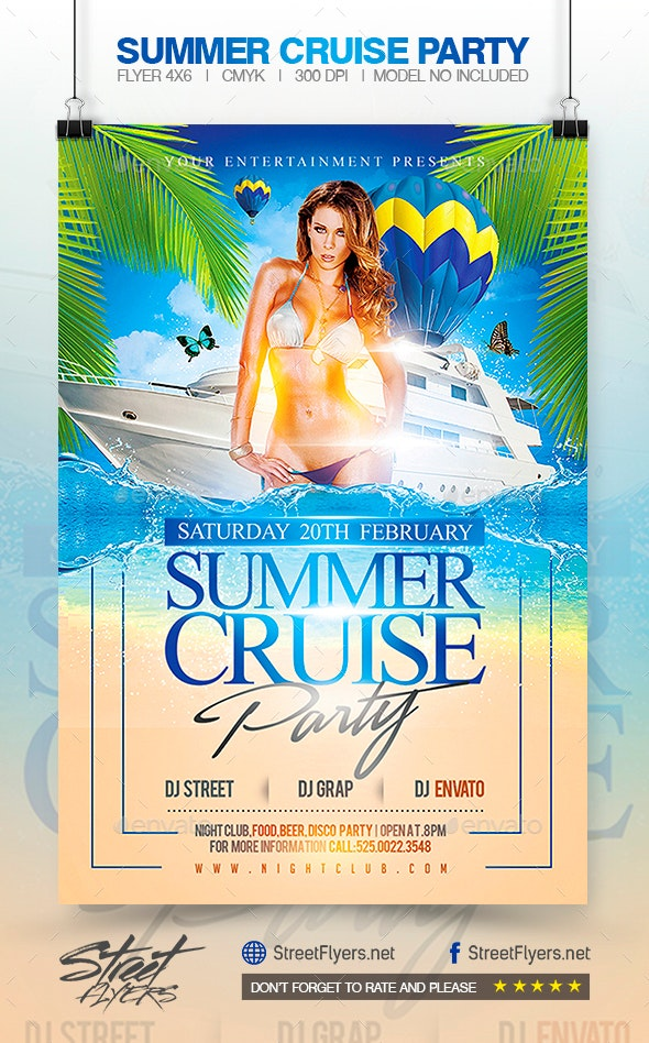 Summer Cruise Party - Flyer Template - Events Flyers