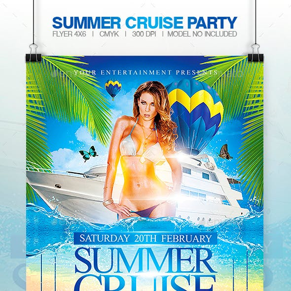 Summer Cruise Party - Flyer Template
