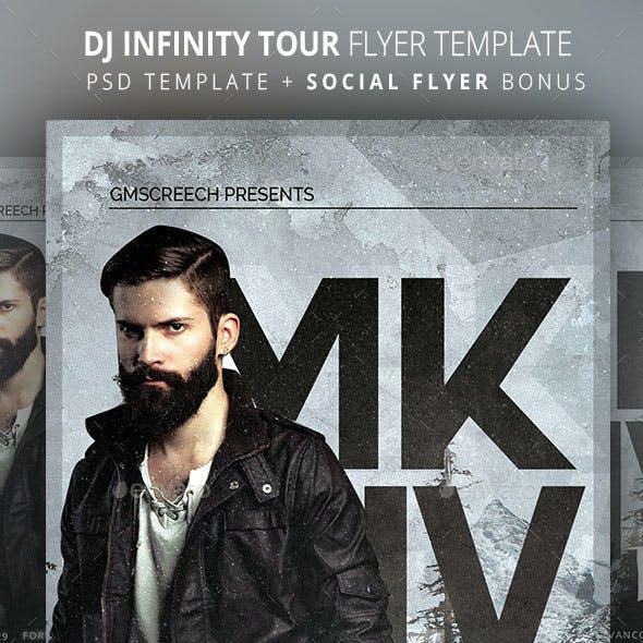 DJ Infinity Tour Flyer Template