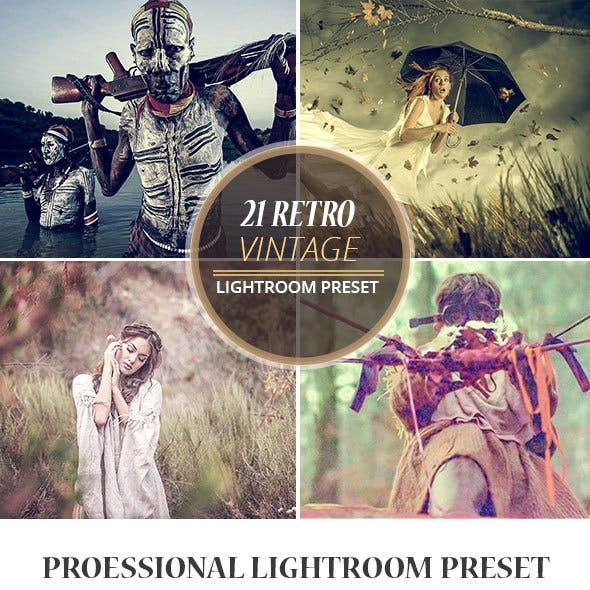21 Retro Vintage LR Preset