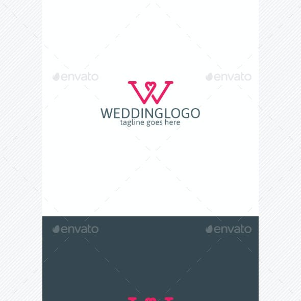 Wedding Logo • Letter W • Heart Logo