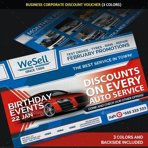 Business Commerce Discount Voucher